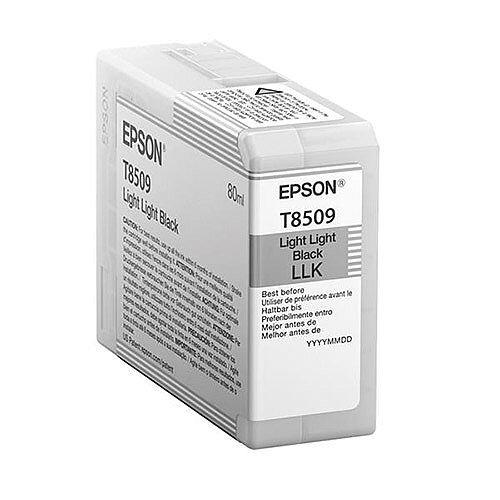 Epson T8509 (80ml) UltraChrome HD Light Light Black Ink Cartridge for SureColor SC-P800 Photo Printer C13T850900