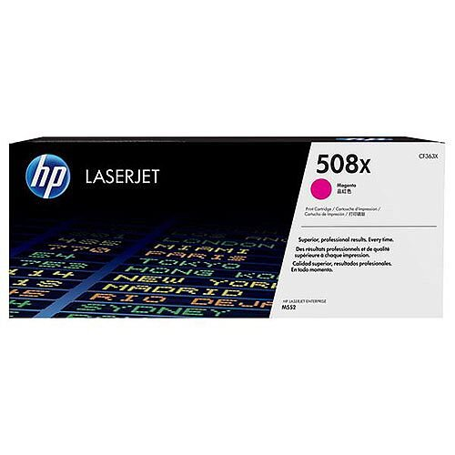 HP 508X (Yield 9,500 Pages) Magenta Original LaserJet Toner Cartridge for Color LaserJet Enterprise M552dn/M553dn/M553n/M553x Printers CF363X