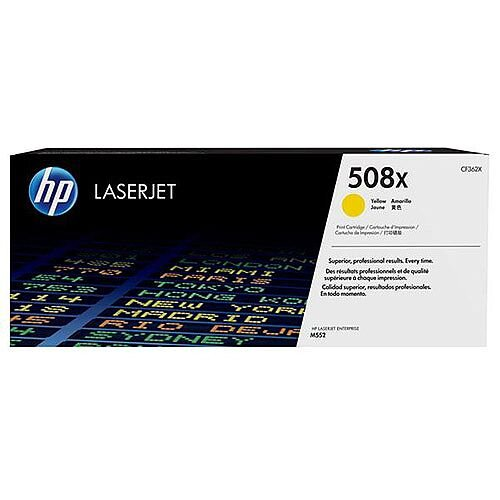 HP 508X (Yield 9,500 Pages) Yellow Original LaserJet Toner Cartridge for Color LaserJet Enterprise M552dn/M553dn/M553n/M553x Printers CF362X