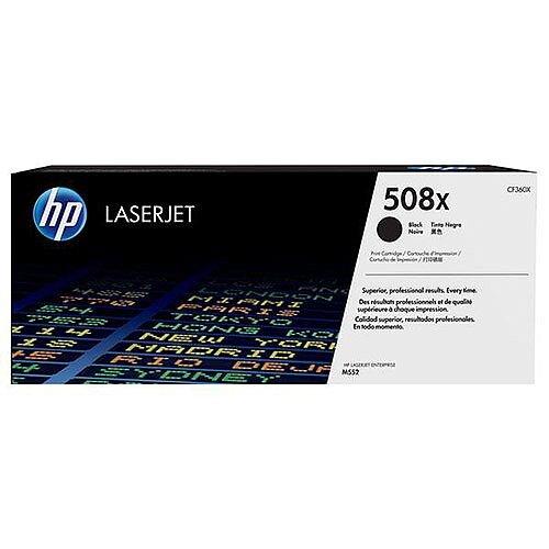HP 508X (Yield 12,500 Pages) High Yield Black Original LaserJet Toner Cartridge for Color LaserJet Enterprise M552dn/M553dn/M553n/M553x Printers CF360X