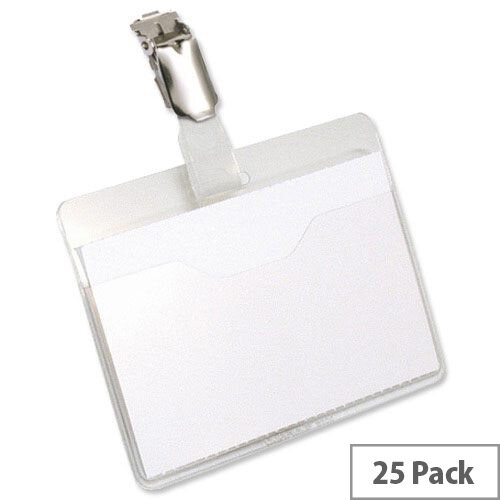 Durable Visitor Name Badges 60 x 90mm Pack 25