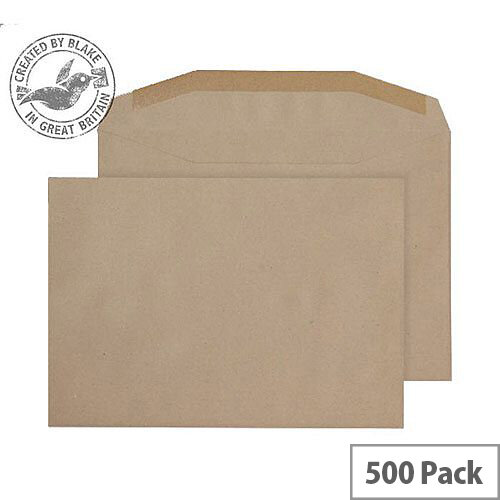 Purely Everyday Mailer Gummed Manilla 80gsm C5+ 162x235mm (Pack 500)
