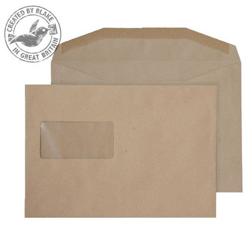 Purely Everyday Mailer Gummed High Window Manilla 80gsm C5+ 162x235 (Pack of 500)