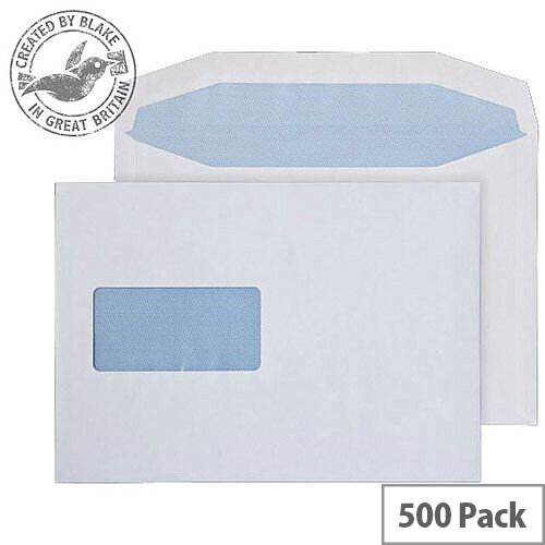 Purely Everyday Mailer Gummed Window White 90gsm C5+ 162x235mm (Pack of 500)