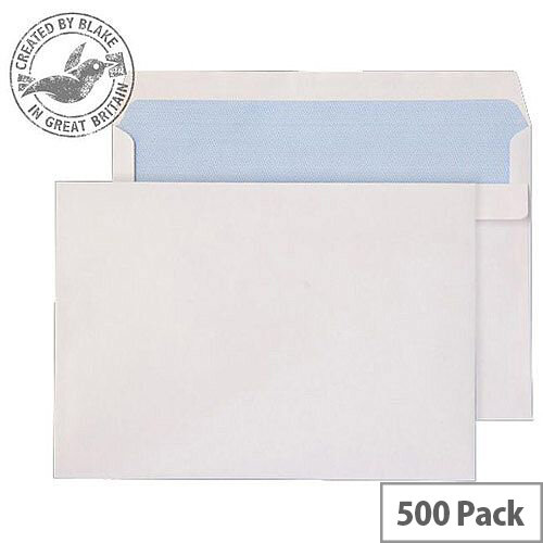 Purely Everyday White 90gsm Self Seal Wallet C5 162x229mm (Pack of 500)