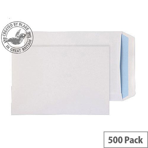 Purely Everyday White 90gsm Self Seal Pocket C5 229x162mm Ref 13893 (Pack of 500)