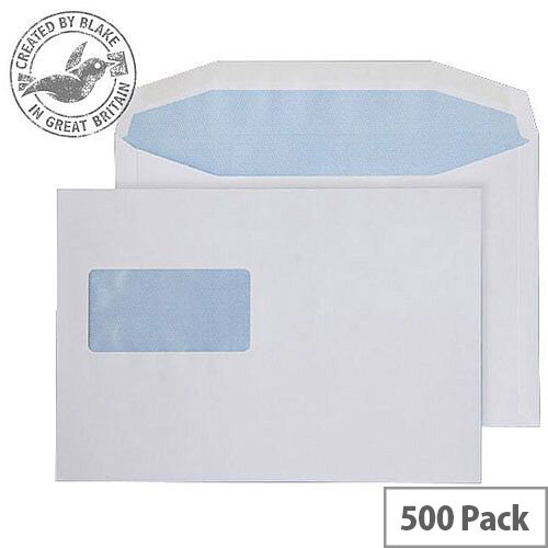 Purely Everyday Mailer Gummed High Window White 90gsm C5+ 162x235 (Pack of 500)