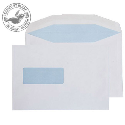 Purely Everyday White Gummed 90gsm Mailing Wallet Window C5+ 162x238mm (Pack of 500)