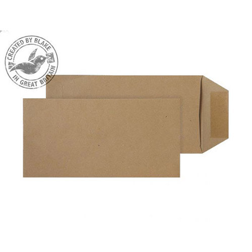 Purely Everyday Manilla DL+ Pocket Self Seal Envelopes 80gsm Pack of 500