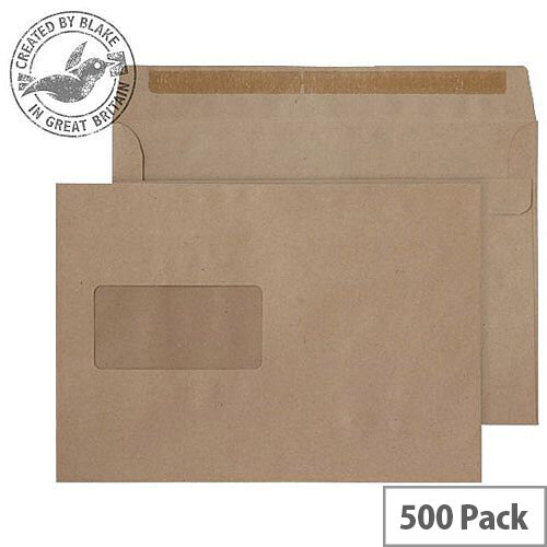 Purely Everyday Manilla 90gsm Self Seal Wallet Window C5 162x229mm (Pack 500)