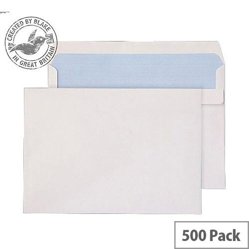 Purely Everyday Wallet Self Seal White 90gsm C5+ 162x238mm (Pack of 500)