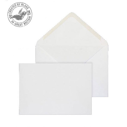 Purely Everyday Banker Invitation Gummed White 100gsm C5 162x229 (Pack of 500)