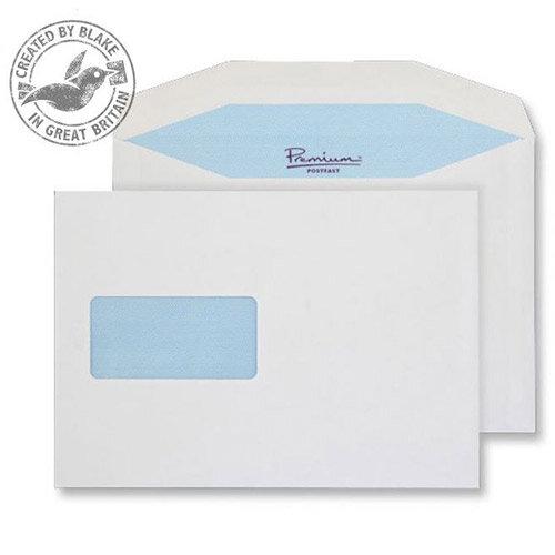 Blake Premium Postfast Mailing Wallet Window Gum White C5 90gsm (Pack of 500)