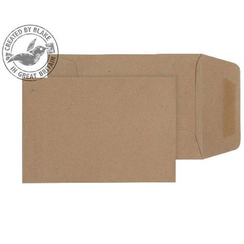 Purely Everyday Manilla Envelopes 80gsm Gummed Pocket 98x67mm Pack of 1000