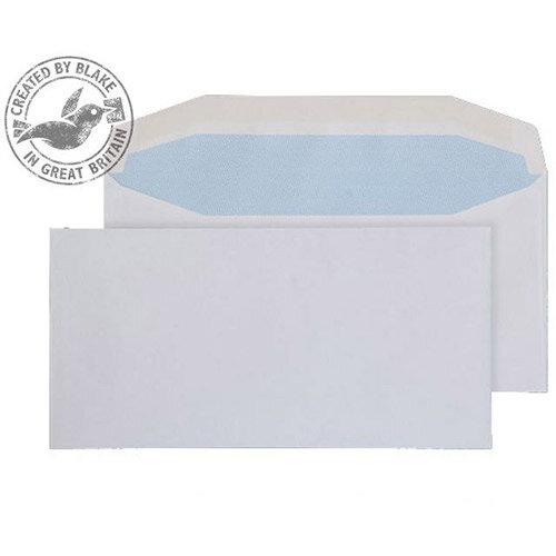 Purely Everyday White DL Envelopes Mailer Wallet Gummed 110gsm Pack of 1000