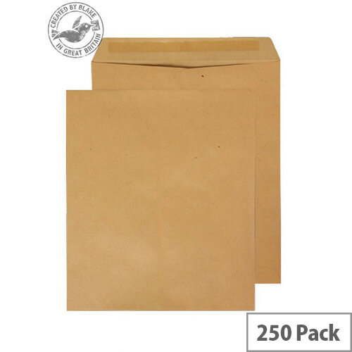 Purely Everyday Pocket Envelopes Gummed Manilla 115gsm 330x279mm Pack of 250