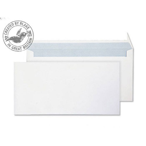 Purely Everyday Ultra White DL Wallet Envelopes 120gsm Pack of 500