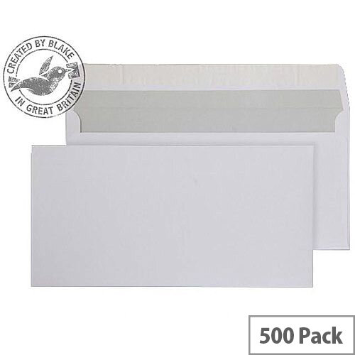Purely Everyday Bright White DL Wallet Envelopes 120gsm Pack of 500