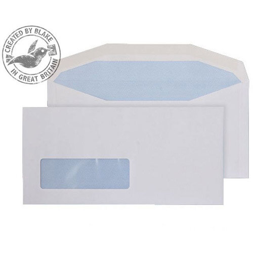 Purely Everyday White DL+ Envelopes Mailer Wallet Window Gummed 90gsm Pack of 1000