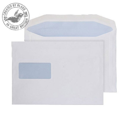 Purely Everyday Mailer Envelopes Gummed High Window White 90gsm 178x254mm Pack of 500