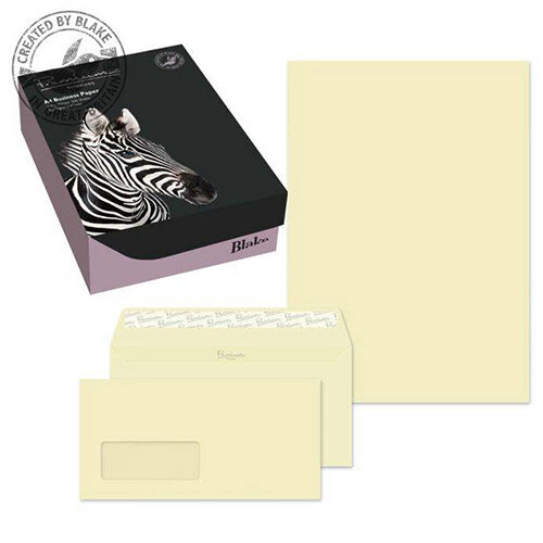 Blake Soho Vellum Wove A4 Paper &Wallet P& DL Envelopes 120gsm (Pack of 250/50)