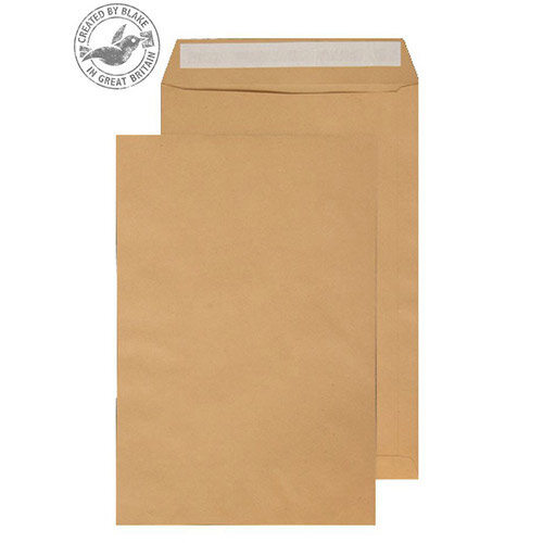 Purely Everyday Pocket Envelopes Peel and Seal Manilla 115gsm 406x305mm Pack of 250