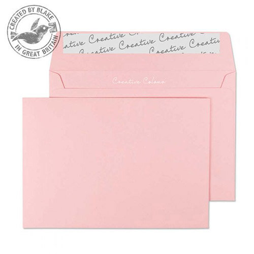 Creative Colour Baby Pink Wallet C6 Envelopes (Pack of 500)