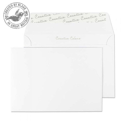 Creative Colour Ice White C6 Wallet Envelopes (Pack of 500)