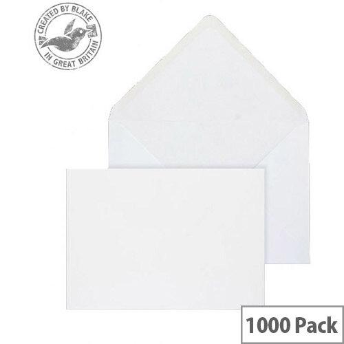 Purely Everyday Banker Invitation Envelopes Gummed White 90gsm 127x190mm Pack of 1000