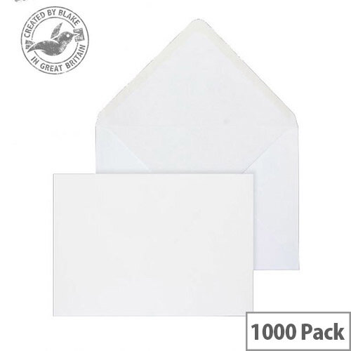 Purely Everyday Banker Invitation Envelopes Gummed White 90gsm 121x184mm Pack of 1000