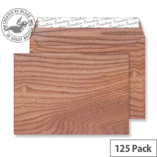 Creative Senses Polished Oak Pattern Wallet C5 Envelopes (Pack of 125)