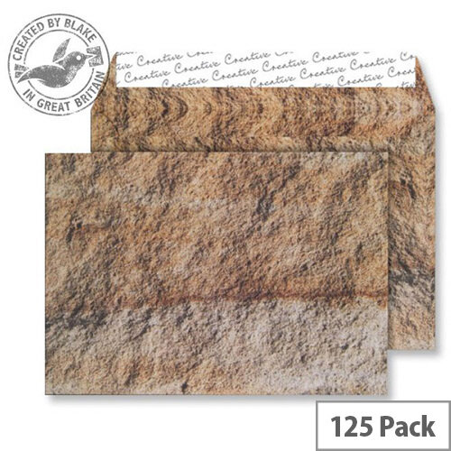 Creative Senses Jurassic Limestone Pattern Wallet C5 Envelopes (Pack of 125)