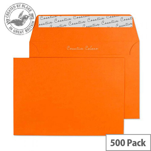 Creative Colour Pumpkin Orange C6 Wallet Envelopes (Pack of 500)