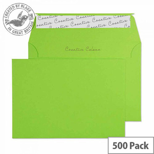 Creative Colour Lime Green C6 Wallet Envelopes (Pack of 500)