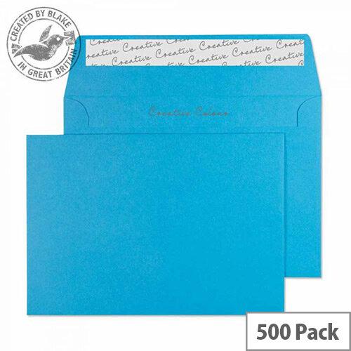 Creative Colour Caribbean Blue Wallet C6 Envelopes (Pack of 500)