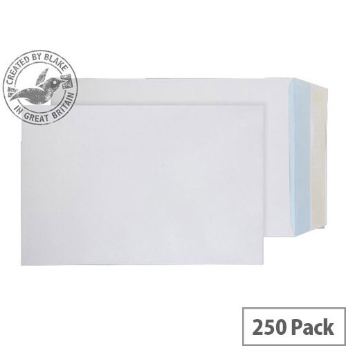 Purely Everyday Pocket Envelopes Peel and Seal White 120gsm 381x254mm Pack of 250
