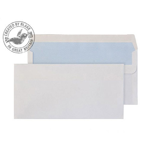 Purely Everyday DL+ White Self Seal Wallet Envelopes 90gsm Pack of 1000