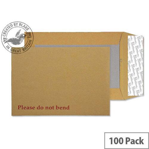 Blake Premium Manilla C4 Avant Garde Board Back Envelopes Peel and Seal Cream 130gsm (Pk100)