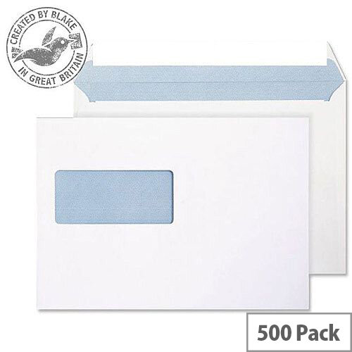 Purely Everyday Wallet P& Window Ultra White 120gsm C5 162x229 (Pack of 500)