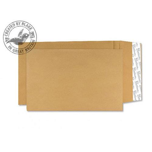Blake Premium Cream Manilla Avant Garde Gusset Envelopes Peel and Seal 381x254x25mm 140gsm Pack of 100