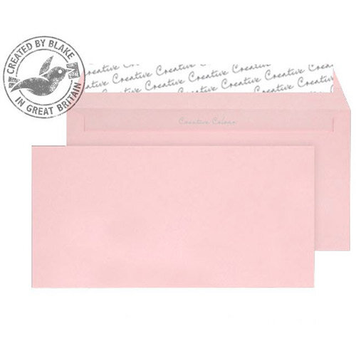 Creative Colour Baby Pink Wallet DL+ Envelopes (Pack of 500)