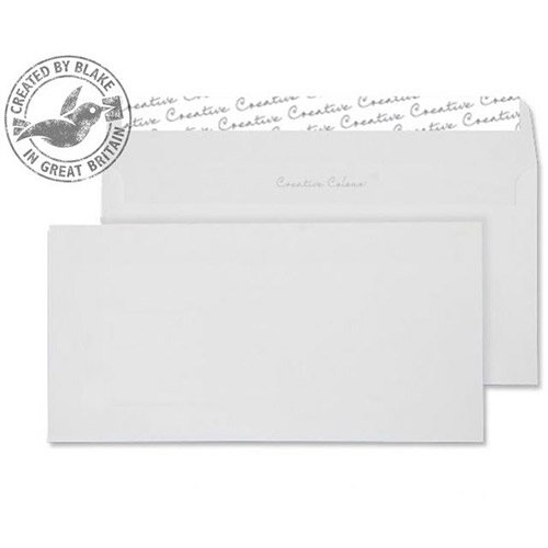 Creative Colour Milk White DL+ Wallet Envelopes 120gsm Pack of 500