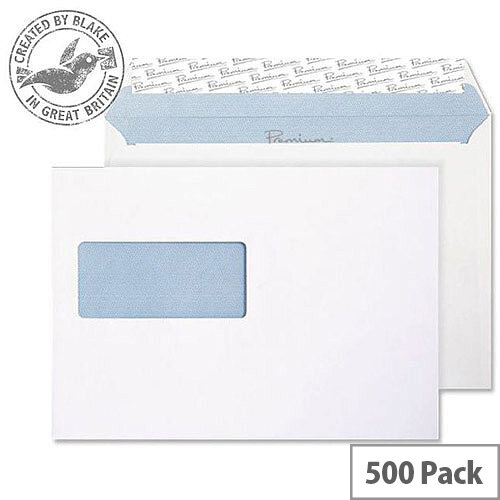 Blake Premium Office Wallet Window P& Ultra White Wove C5 120gsm (Pack of 500)