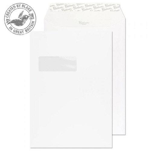 Blake Premium Business Pocket Window P& Ice White Wove C4 120gsm (Pack of 250)