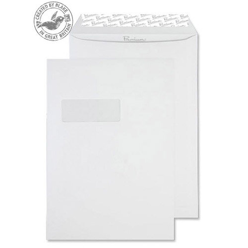 Blake Premium Business Pocket Window P& High White Wove C4 120gsm (Pack of 250)