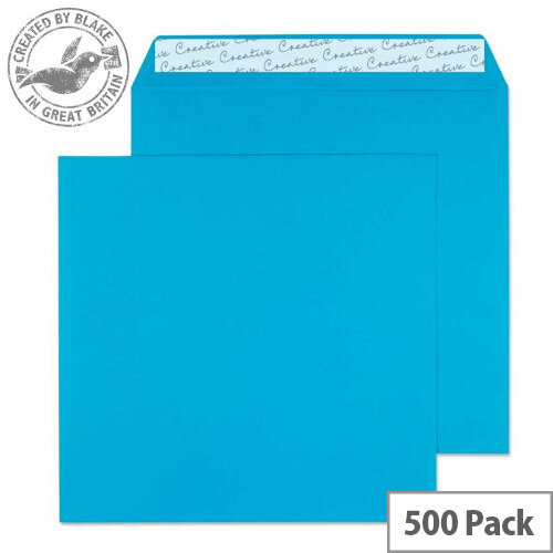 Creative Colour Caribbean Blue Square Wallet Envelopes (Pack of 500)