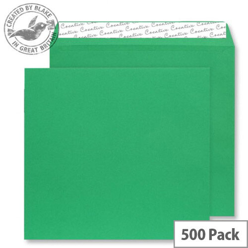 Creative Colour Avocado Green Peel and Seal Wallet Envelopes 220x220mm Ref 508 (Pack 500)