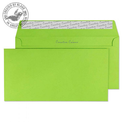 creative colour lime green dl wallet envelopes pack of 500