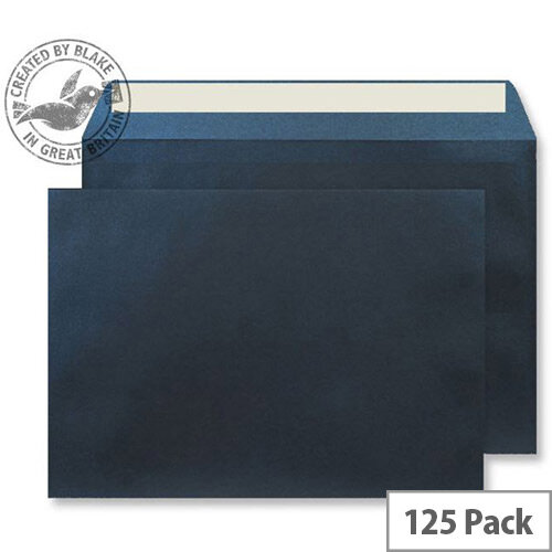 Creative Shine Pearlescent Midnight Blue Wallet C4 Envelopes (Pack of 125)