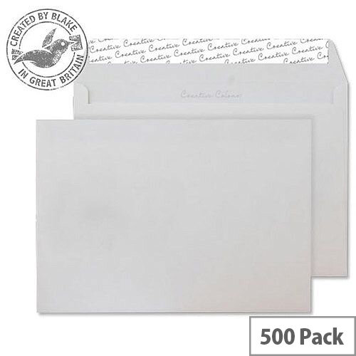 Creative Colour Wallet P& Ice White 120gsm C5 162x229mm (Pack of 500)